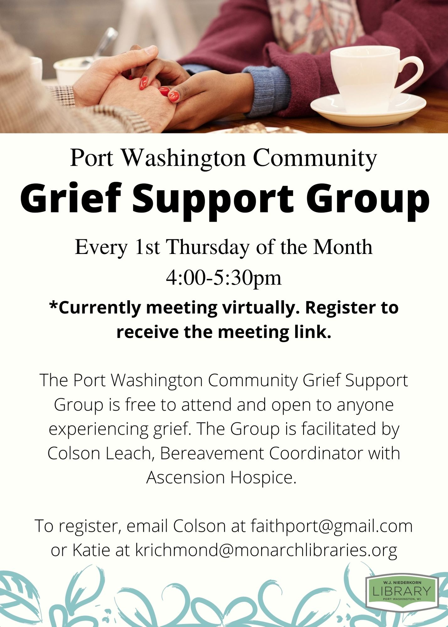 Informational flier for Grief Support Group.