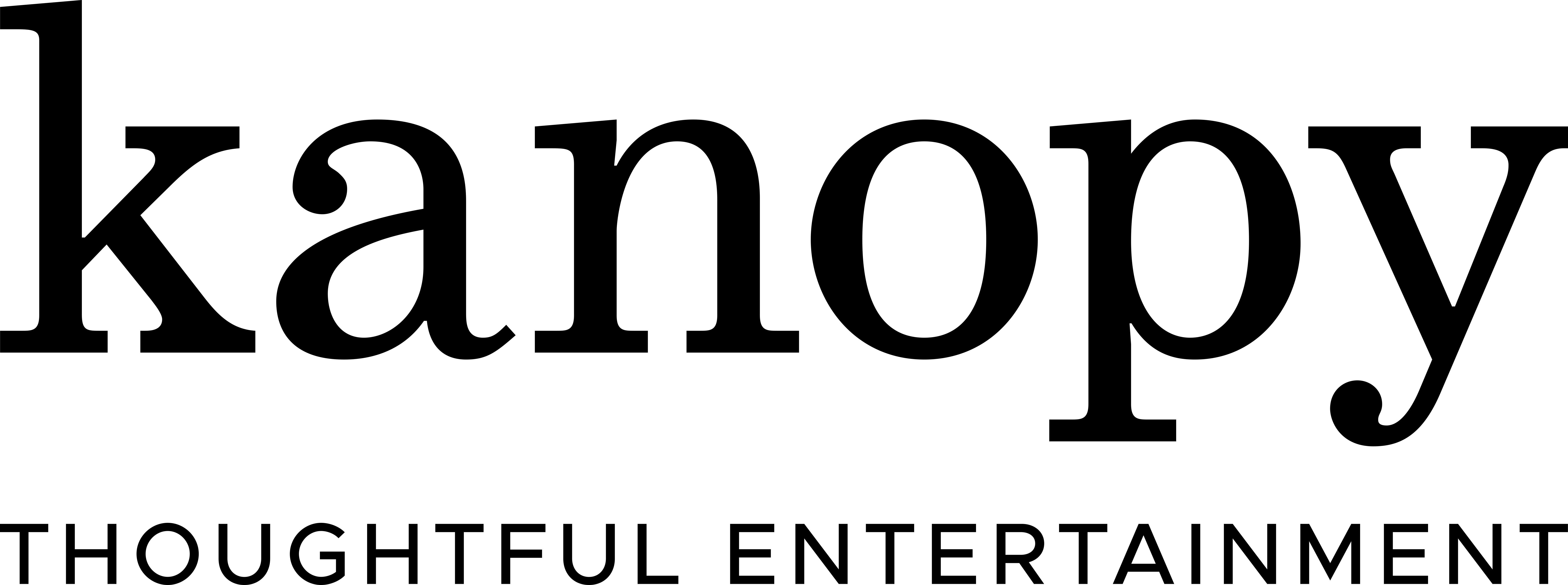 Logo that says Kanopy, thoughtful entertainment